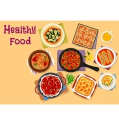 Italian cuisine lunch icon for healthy food design vector image