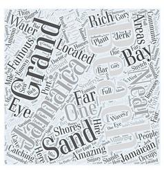 jamaican beaches Word Cloud Concept vector image