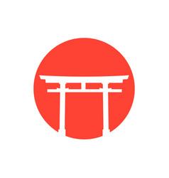 japan logo design flat design vector image