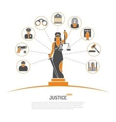 Lady Justice Concept vector
