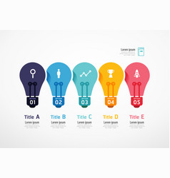 light bulb resources infographic education vector image