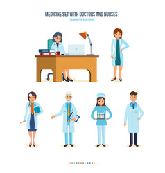 Local doctor therapist ent doctor surgeon vector