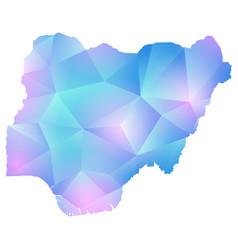 map of nigeria polygon vector image