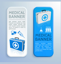 Medical care vertical banners vector