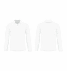 Mens white long sleeve t shirt vector
