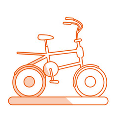 Monocromatic bike design vector