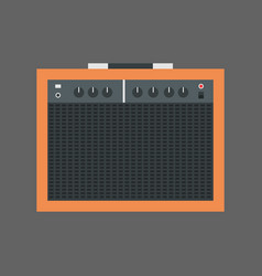 music speakers icon column stereo system concept vector image