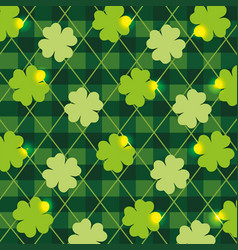 Nature clover plant with texture background vector