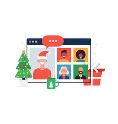 normal people meeting online vector image