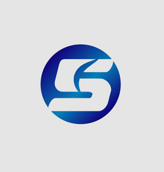 number five logologo 5 template vector image