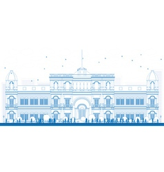 Outline university or college building vector