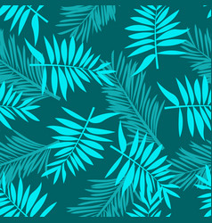 pattern tropical palm leaves jungle seamless vector image