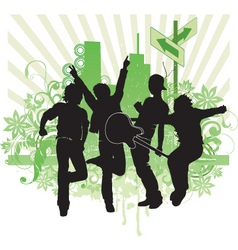 pop band illustration vector image