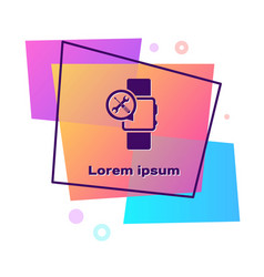 Purple smartwatch with screwdriver and wrench icon vector