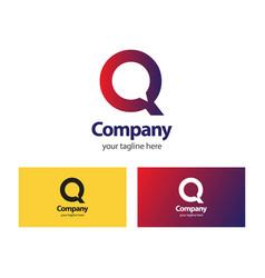 Q company logo template design vector