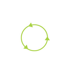 recycling circle line sign and icon green vector image