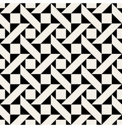 Seamless Black and Wite Geometric Pattern vector