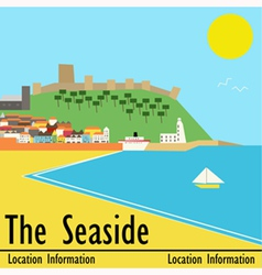 Seaside Town vector image