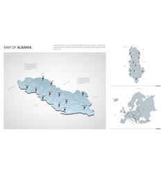 Set albania country isometric 3d map albania vector