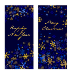 set of christmas new year banners 2017 vector image