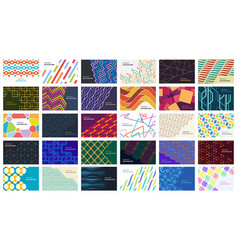 set of colorful abstract background vector image