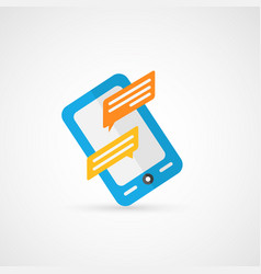 Smartphone message vector