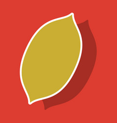 Sticker lemon fresh lemon fruits vector