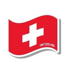 Switzerland patriotic flag isolated icon vector