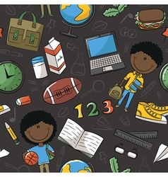Teaching kids background vector