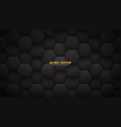 technological 3d hexagons darkness abstract vector image