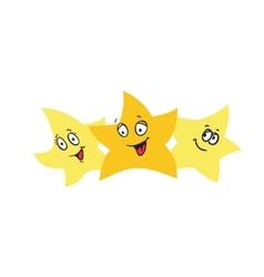 Three golden stars design elements eps10 vector image