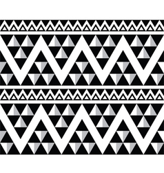 Tribal aztec abstract seamless pattern vector image