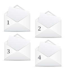 white envelopes with 4 options vector image