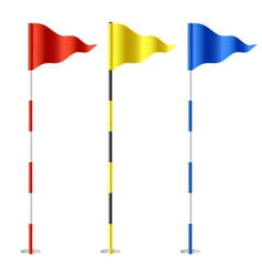 Golf flags vector image vector image