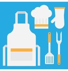 Grill tools set vector image