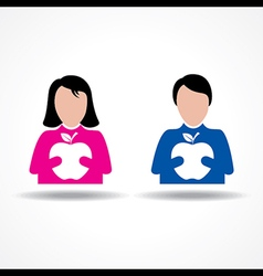 Male and Female thinking about their health vector image