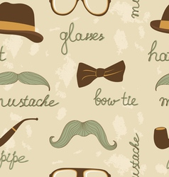 Mustache party pattern vector image