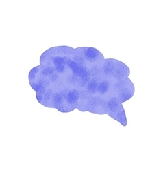 Watercolor speech bubble Hand drawn vector image vector image