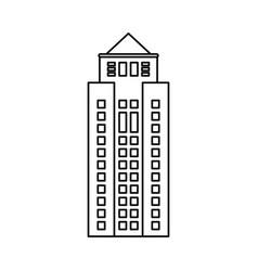 building property skyscraper outline vector image