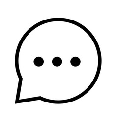 chat icon in speech bubble - iconic design vector image