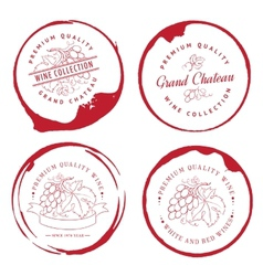 Design of logo for wine vector image