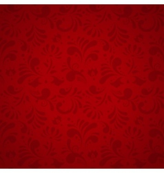 Floral Seamless Pattern Subtle Red vector image vector image