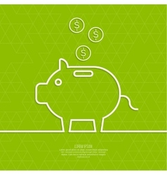 Icon Pig piggy bank vector image vector image