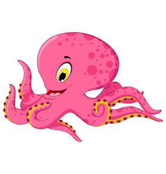 octopus cartoon for you design vector image vector image