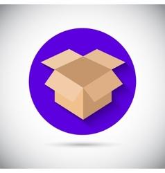 Open box flat icon vector image vector image