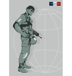 a soldier of the Foreign Legion vector image