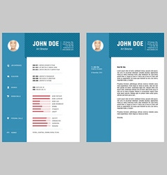 CV and Cover Letter vector image