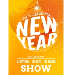 Happy New Year festive flyer design template vector image vector image