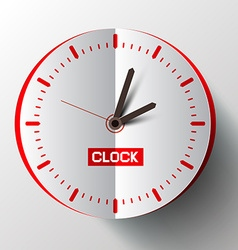 Paper Cut Clock Face vector image vector image