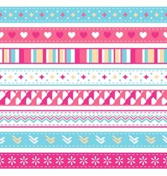 seamless ribbons vector image vector image